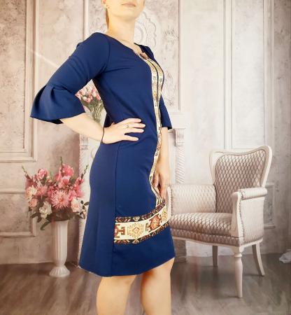 Rochie stilizata cu motive traditionale Georgiana 21