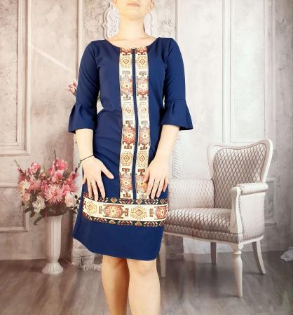 Rochie stilizata cu motive traditionale Georgiana 20