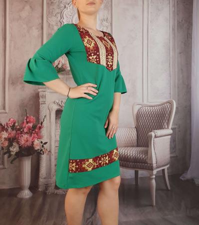 Rochie stilizata cu motive traditionale Georgiana 30