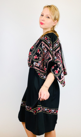 Rochie stilizata cu motive traditionale - Kara [3]