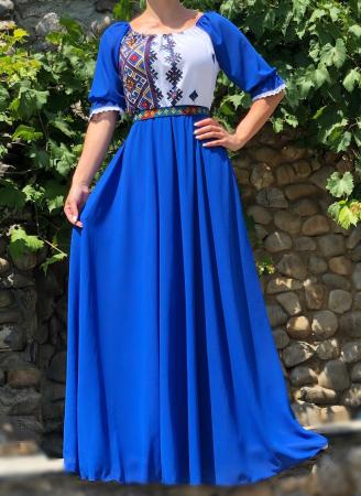 Rochie stilizata cu motive traditionale lunga Magdalena [0]