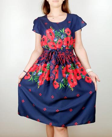Rochie stilizata cu motive traditionale cu maci 7 [1]