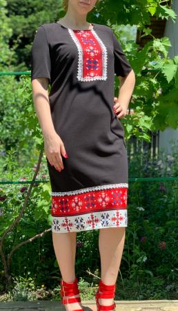 Rochie stilizata cu motive traditionale Madi 5 [1]