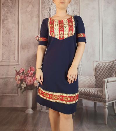 Rochie stilizata cu motive traditionale Magdalena 3 [0]