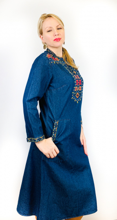 Rochie Traditionala din denim Sanda 13 [1]