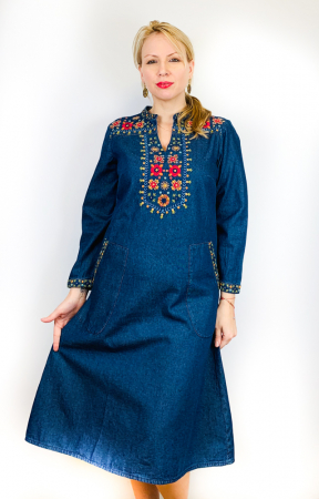 Rochie Traditionala din denim Sanda 13 [3]
