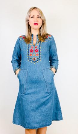 Rochie Traditionala din denim Sanda 14 [0]