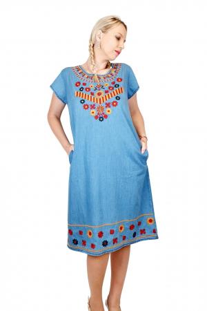 Rochie Traditionala din denim Sanda 31 [1]