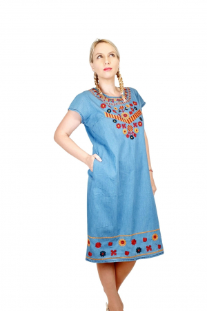 Rochie Traditionala din denim Sanda 31 [2]