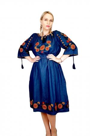 Rochie Traditionala din denim Sanda 34 [0]