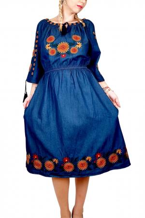 Rochie Traditionala din denim Sanda 34 [3]