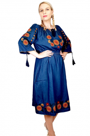Rochie Traditionala din denim Sanda 34 [4]
