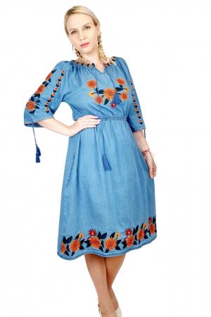 Rochie Traditionala din denim Sanda 35 [1]
