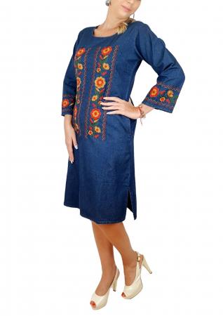 Rochie Traditionala din denim Sanda 36 [2]
