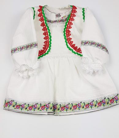 Rochita si Vesta Traditionale Fetite 0-6 luni0
