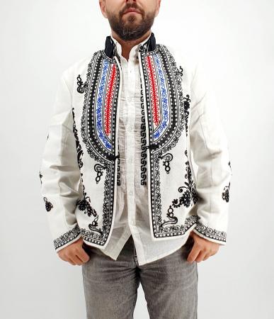 Sacou Traditional Barbati Alb 2 [3]