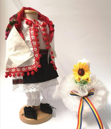 Set Botez Traditional – Delia – 2 piese / costumas si lumanare [0]