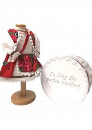 Set Botez Traditional – Manuela – 2 piese / costumas si cufar brodat [0]