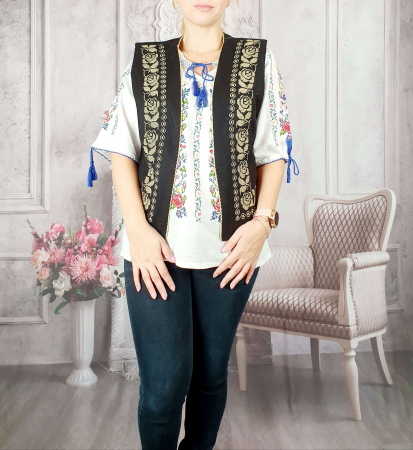 Vesta brodata cu model Traditional Suzana 14 [0]