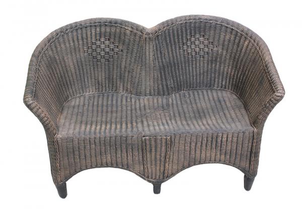 Canapea 2 locuri din PE, imitație ratan, model Canapea RATTAN [0]