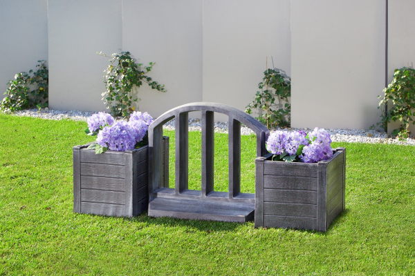 Element PE gard decorativ, imitație lemn 1