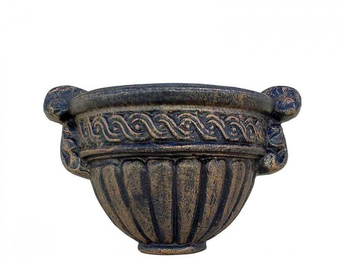 Ghiveci PE clasic, prindere perete, imitație piatră, model Roma [0]