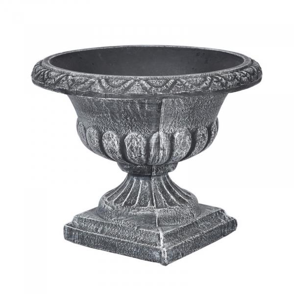 Ghiveci PE clasic, rotund, imitație piatră, model VAZA M 0