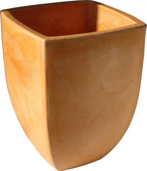 Ghiveci PE modern, pătrat, imitație ceramică, model JELKA L 0
