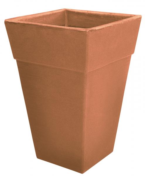 Ghiveci PE modern, pătrat, imitație ceramică, model QUADRO L 0