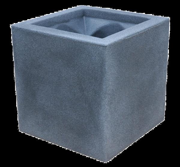 Ghiveci PE modern, pătrat, imitație piatră, model TANGO M 0