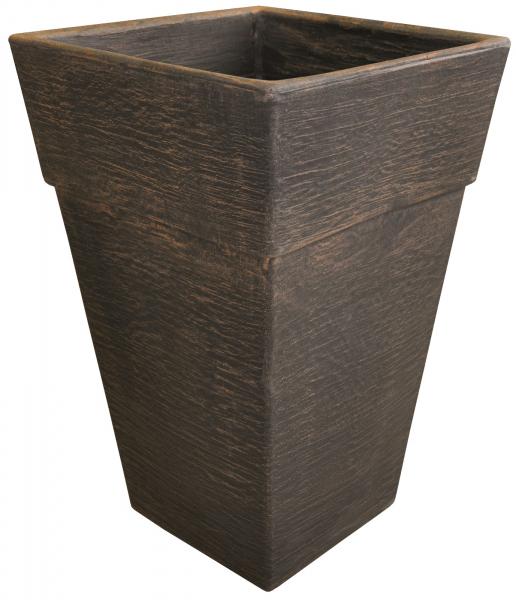 Ghiveci PE modern, pătrat, imitație ceramică, model QUADRO M 0