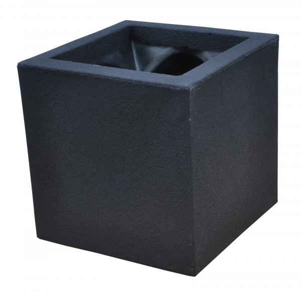 Ghiveci PE modern, pătrat, imitație piatră, model TANGO S [0]