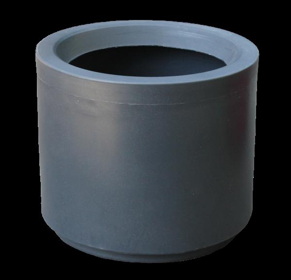 Ghiveci PE modern, rotund, imitație granit, model BLUES M 0