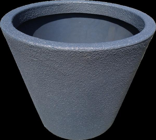 Ghiveci PE modern, rotund, imitație piatră, model JAZZ L 0