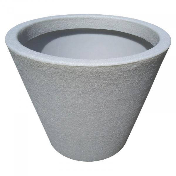Ghiveci PE modern, rotund, imitație piatră, model JAZZ L [0]
