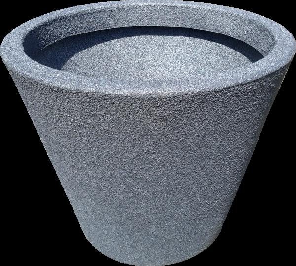 Ghiveci PE modern, rotund, imitație piatră, model JAZZ M 0