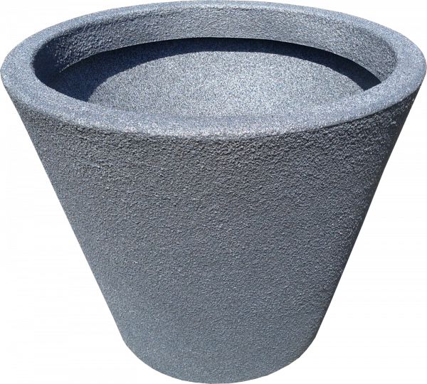 Ghiveci PE modern, rotund, imitație piatră, model JAZZ S 0