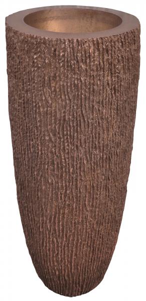 Ghiveci PE modern, rotund, imitație piatră, model SAMBA L 0
