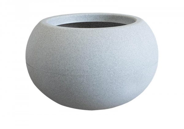 Ghiveci PE modern, rotund, imitație granit, model SWING LOW S 0