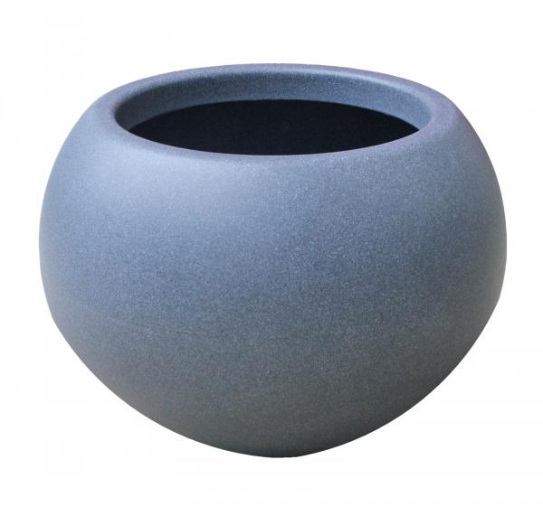 Ghiveci PE modern, rotund, imitație granit, model SWING, S 0