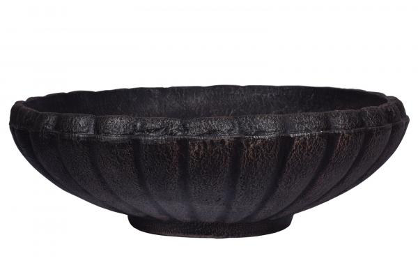 Ghiveci PE vintage, rotund, imitație piatră, model MARGARITE L [0]