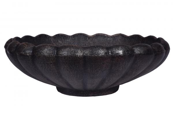 Ghiveci PE vintage, rotund, imitație piatră, model MARGARITE M [0]