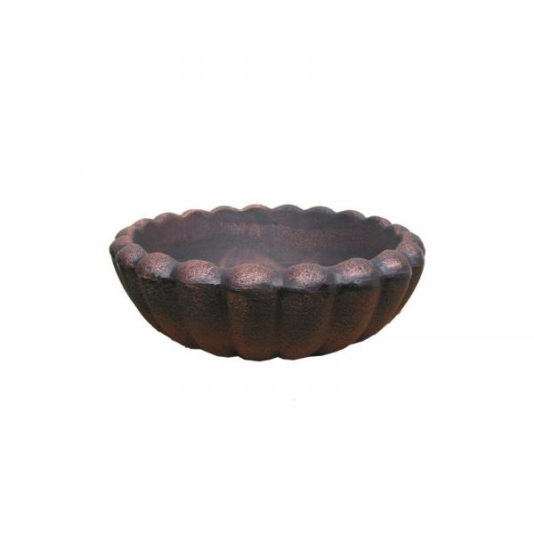 Ghiveci PE vintage, rotund, imitație piatră, model MARGARITE S 1
