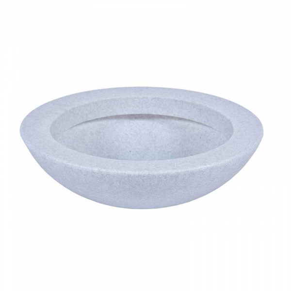Ghiveci PE minimalist, rotund, imitație granit, model BALLET 600 0