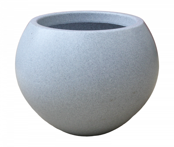 Ghiveci PE modern, rotund, imitație granit, model SWING L 0