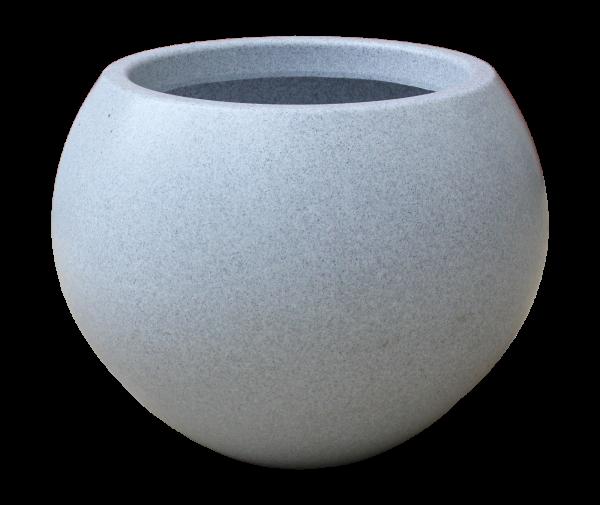 Ghiveci PE modern, rotund, imitație granit, model SWING S 0
