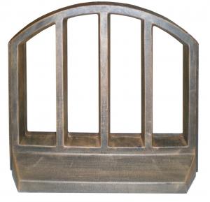 Element PE gard decorativ, imitație lemn0