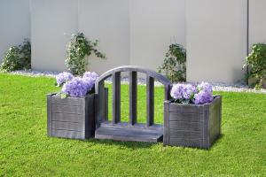Element PE gard decorativ, imitație lemn1