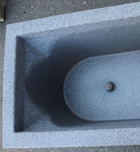 Ghiveci PE modern, dreptunghiular, imitație piatră, model TANGO L1