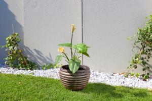 Ghiveci PE modern, rotund, imitație ceramica, model MODERNO M1